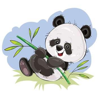 برچسب تزئینی موبایل دکوگراف مدل Panda-1 کد 129