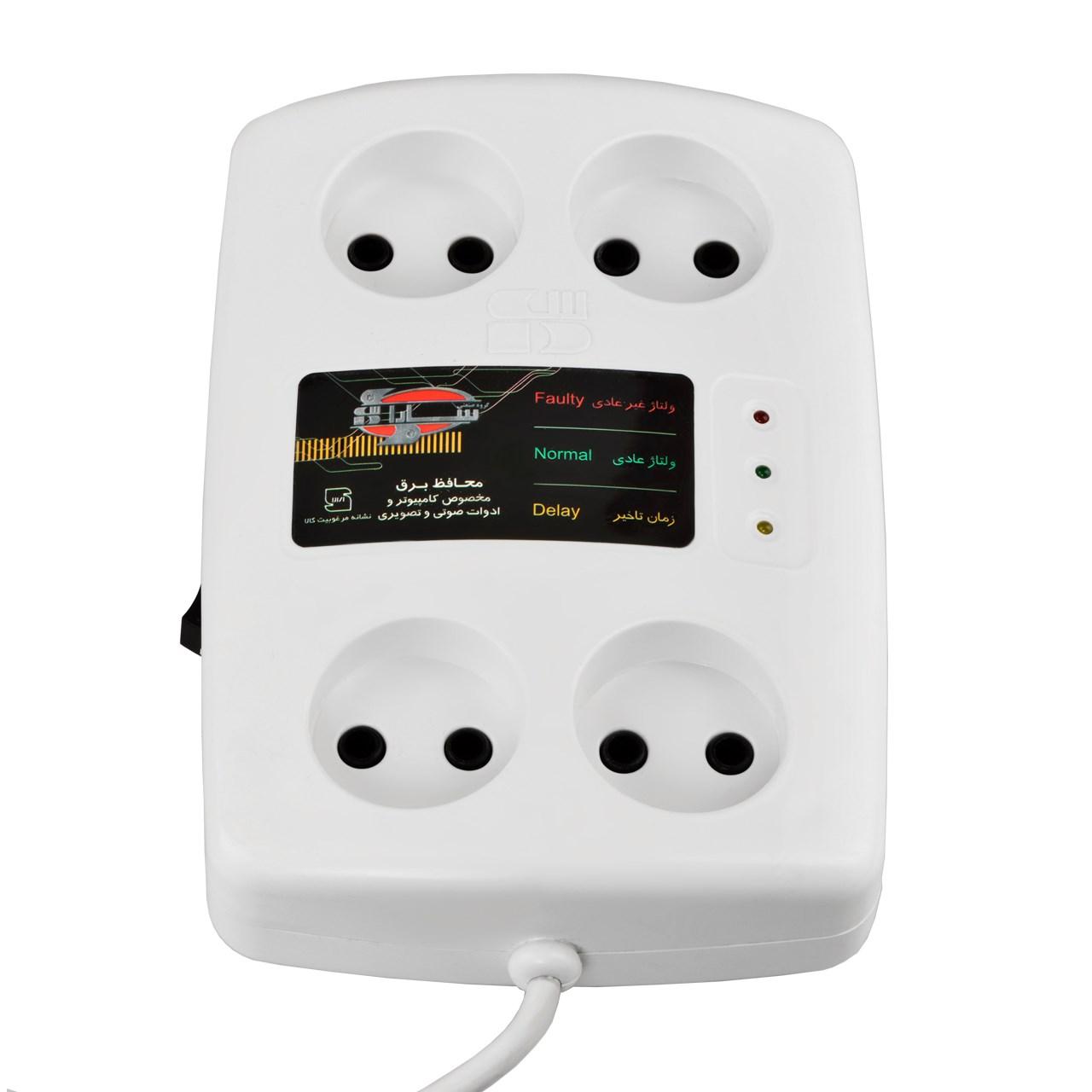 خرید اینترنتی محافظ ولتاژ سارا مدل P152S مناسب برای تلویزیون و کامپیوتر به طول 3 متر اورجینال