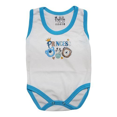 لباس زیر دکمه دار آستین رکابی نوزادی برند پرنسس مدل BLUE-08