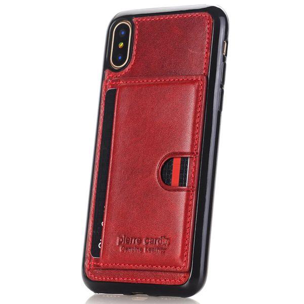کاور چرمی پیرکاردین مدل PCL-P11 مناسب برای گوشی آیفون X