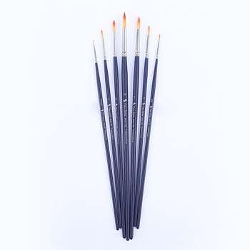 قلم مو پارس آرتیست کد 1000 مدل گرد دسته بلند ست 7 عددی