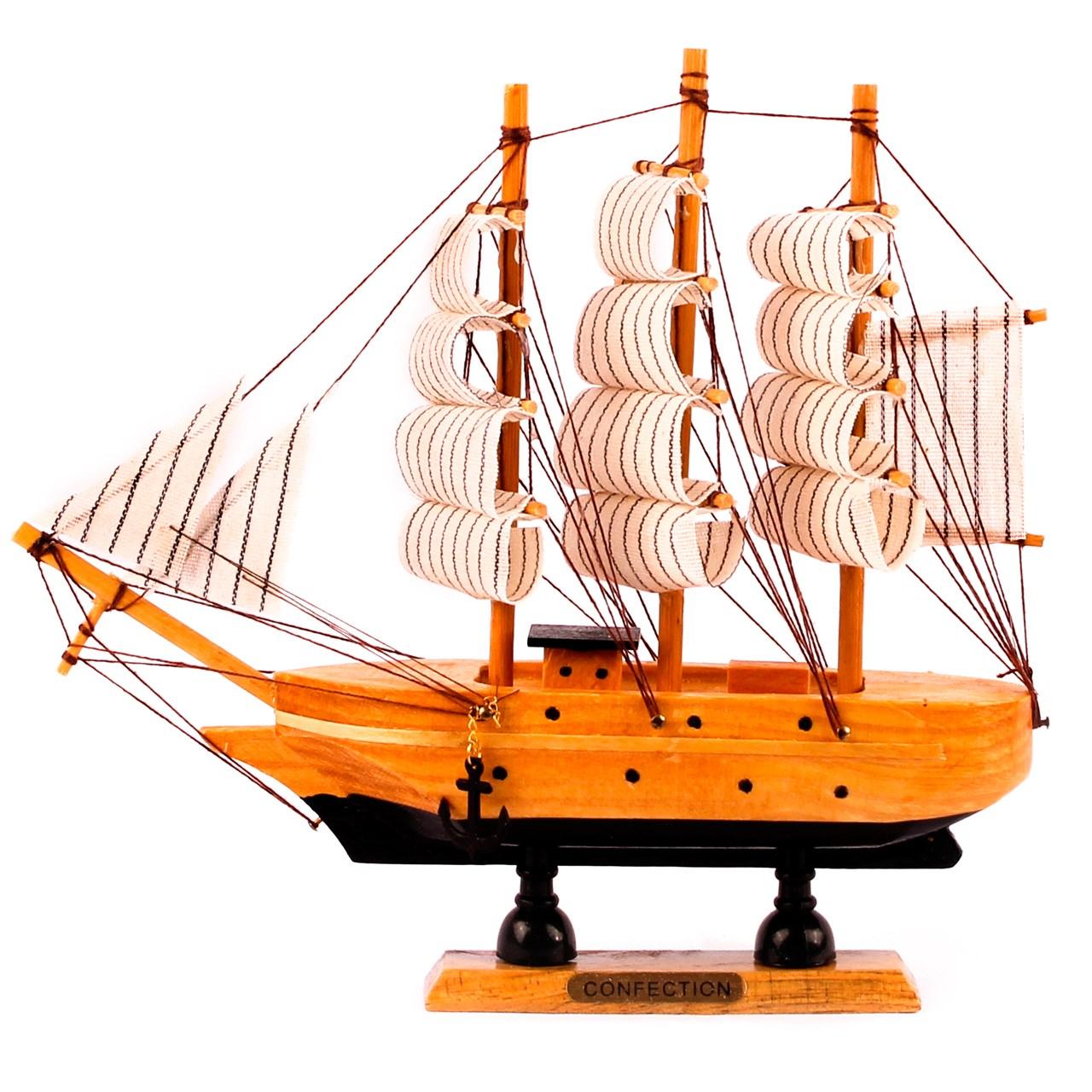 کشتی دکوری چوبی شیک و تک سری 6-117
