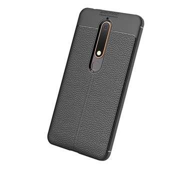 کاور ژله ای طرح چرم مناسب برای گوشی موبایل Nokia 6 2018
