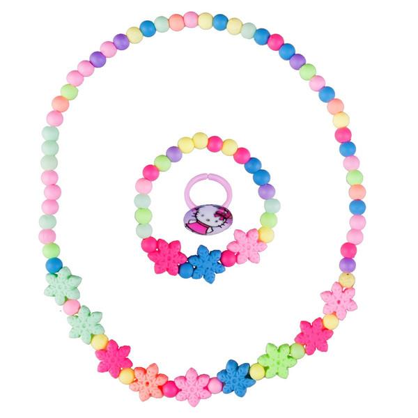ست گردنبند و دستبند دخترانه ویتالی بیوتی مدل دونه برفی کدA623