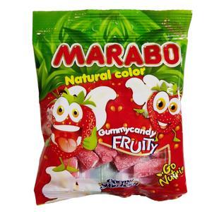 پاستیل شکری لقمه ای با طعم توت فرنگی مارابو - 50 گرم
