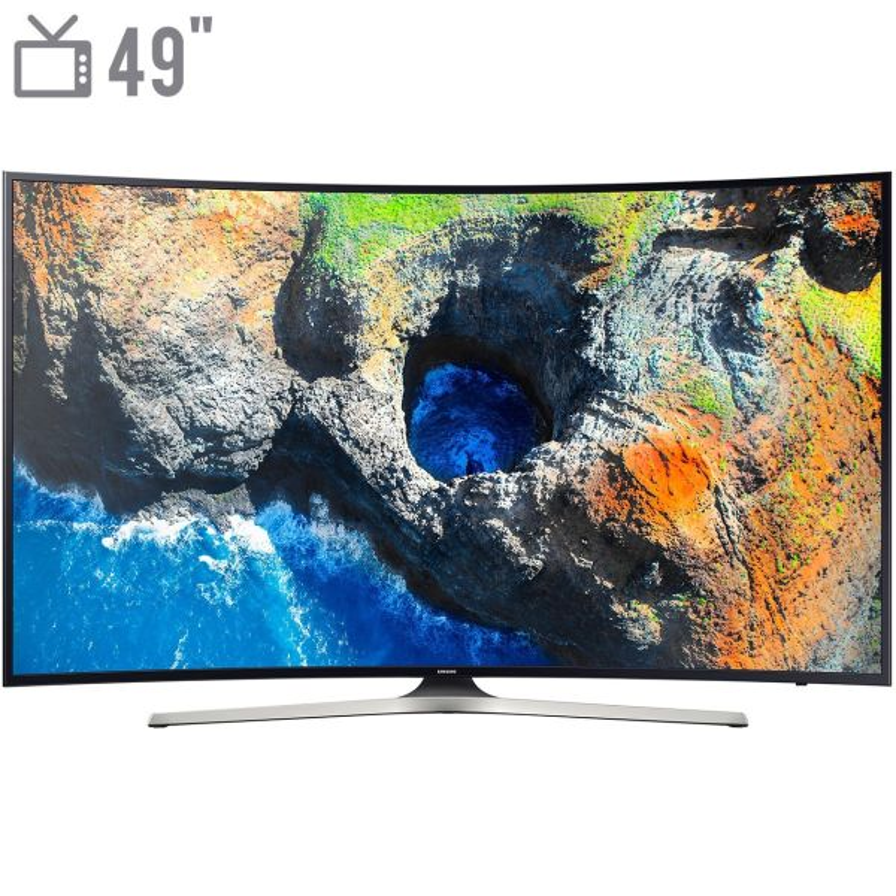 تلویزیون ال ای دی هوشمند خمیده سامسونگ مدل 49MU7985 سایز 49 اینچ