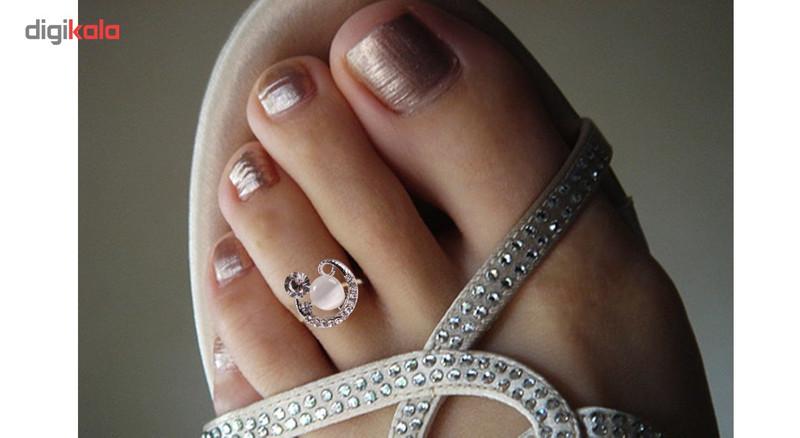 انگشتر پا طرح ماه و نگین مروارید مدل Toe Ring1