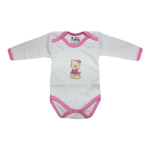 لباس زیر دکمه دار آستین بلند نوزادی برند پرنسس مدل PINK-06