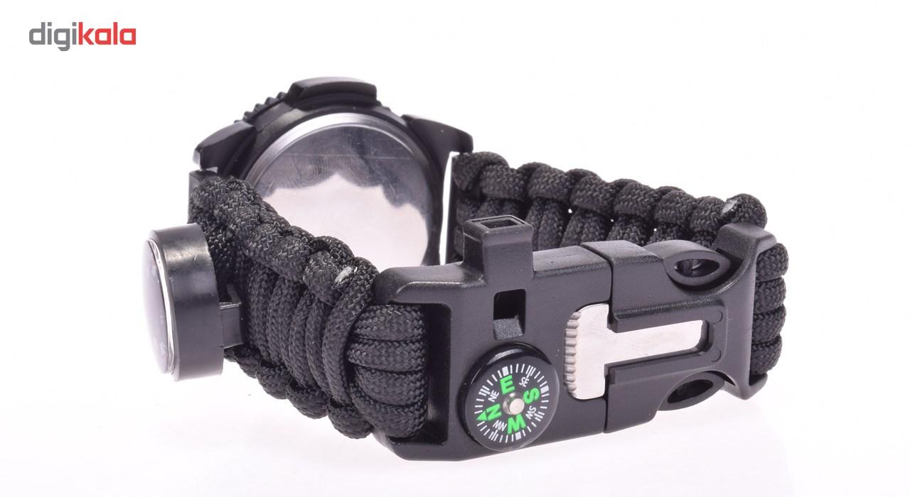 قیمت و خرید                      ساعت مچی عقربه ای پاراکورد مدل Black Survivor