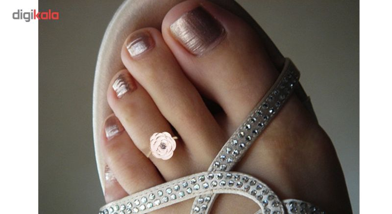 انگشتر پا طرح رز سفید مدل Toe Ring