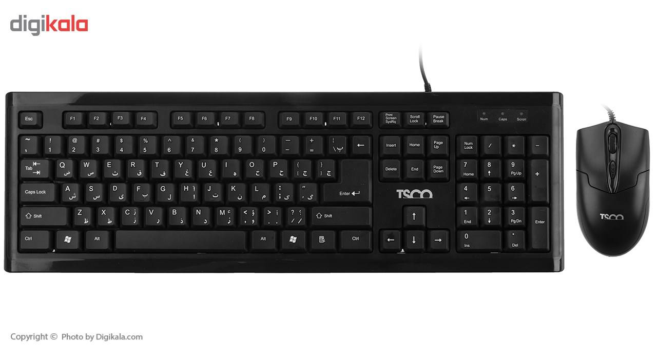 کیبورد و ماوس تسکو مدل TKM 8050 با حروف فارسی main 1 1