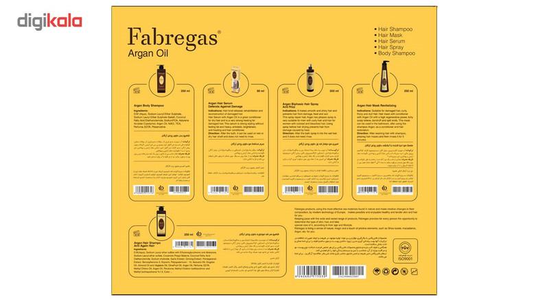 مجموعه ترمیم کننده موی فابریگاس مدل Argan مجموعه 5 عددی