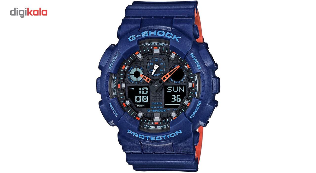 خرید ساعت مچی عقربه ای مردانه کاسیو مدل GA-100L-2ADR