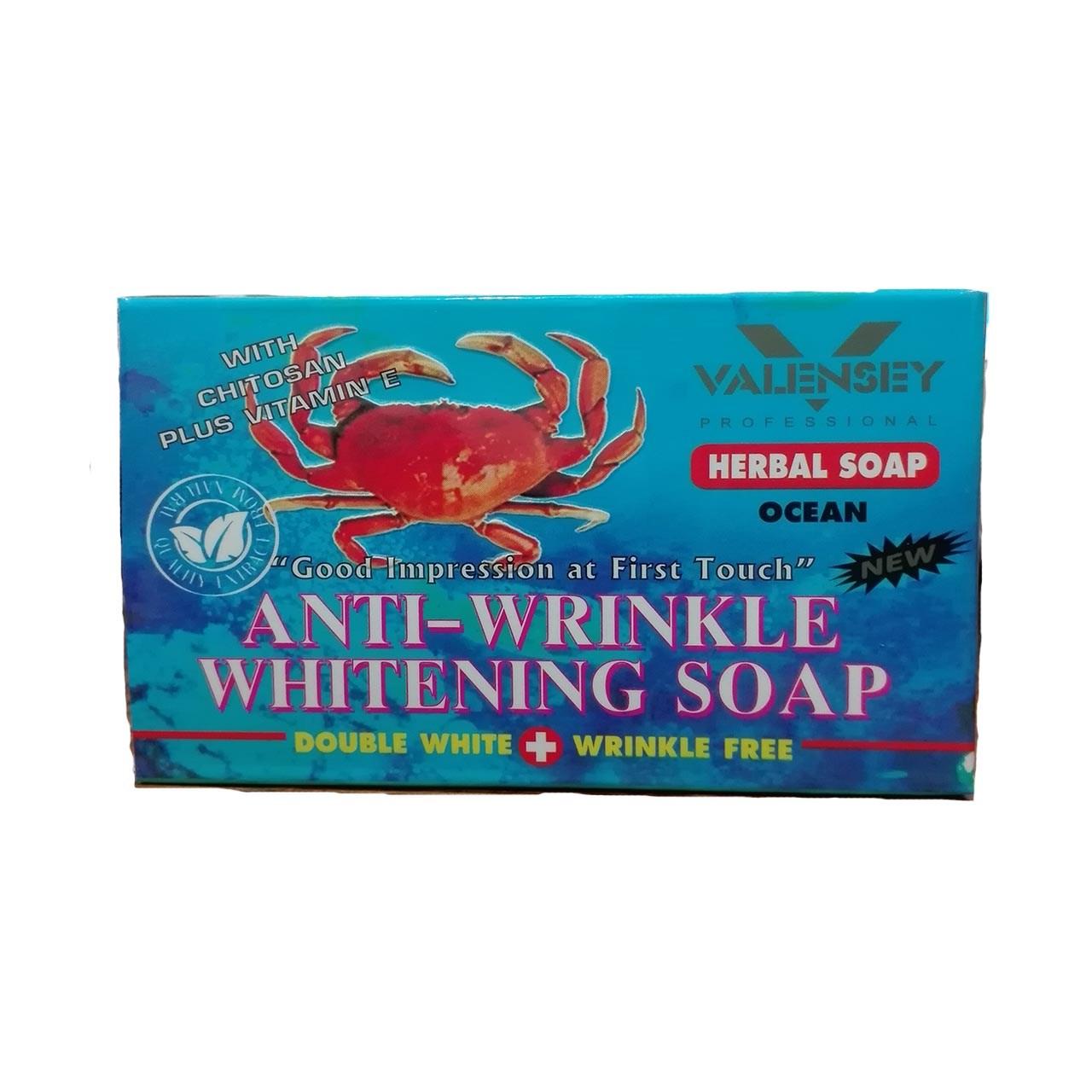 قیمت صابون ضد چروک و روشن کننده والنسی مدل خرچنگ مقدار 100 گرم