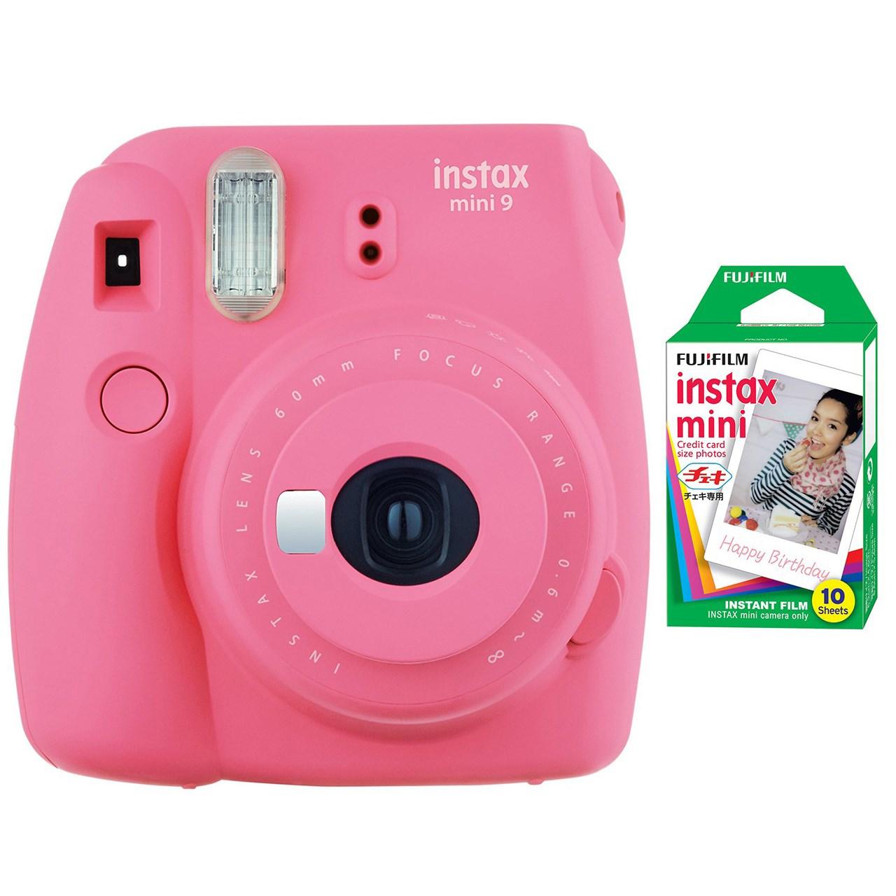دوربین عکاسی چاپ سریع فوجی فیلم مدل Instax Mini 9 | Fujifilm Instax Mini 9 Instant Camera