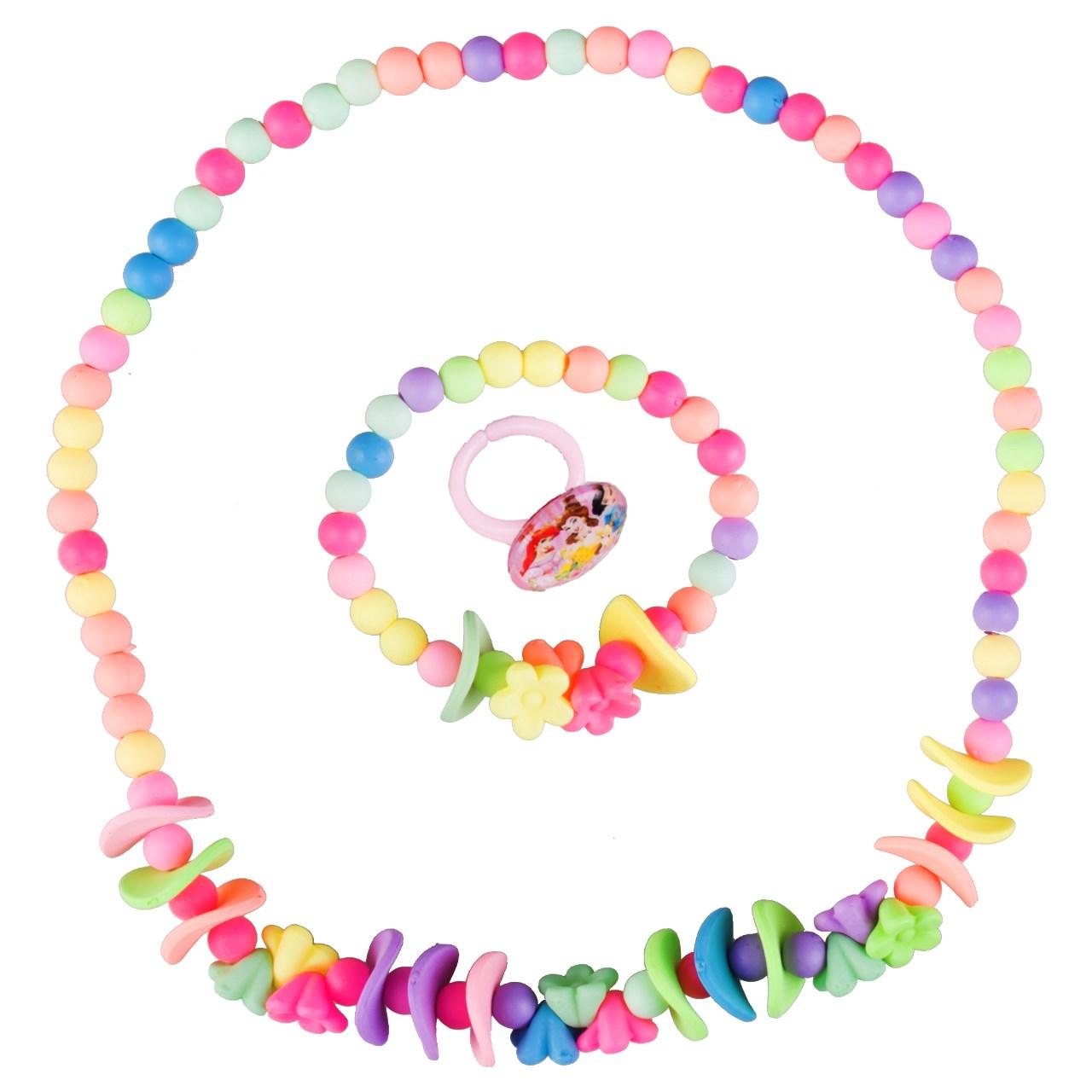 ست گردنبند و دستبند دخترانه ویتالی بیوتی مدل گلبرگ کد A623