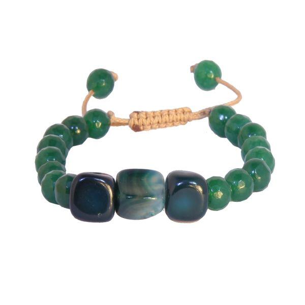 دستبند نوژین مدل سنگ سبز