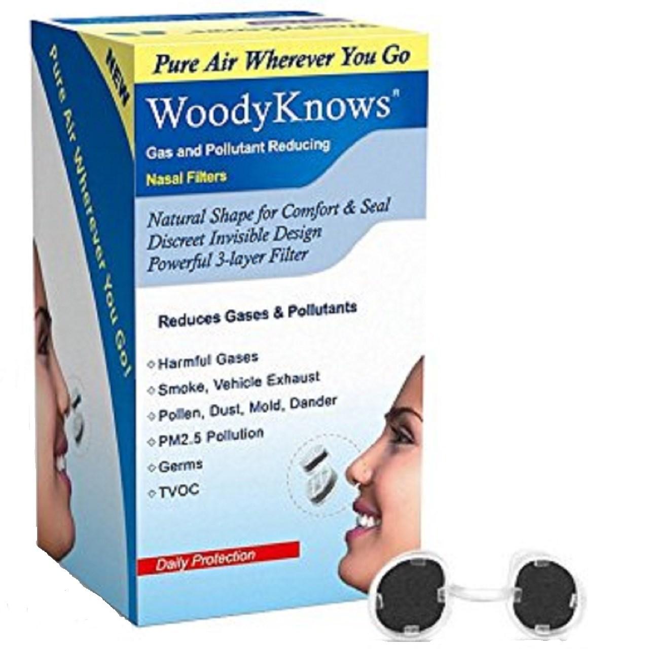 ماسک  بینی وودی نوز مدل Gas And Pollutant Reducing برای حفره بینی گرد