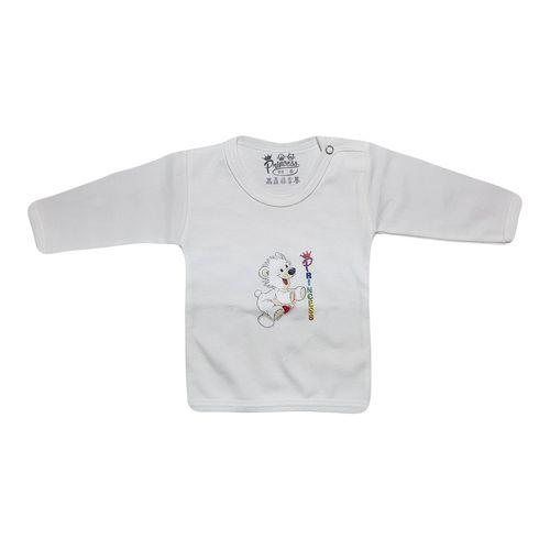 تی شرت آستین بلند برند نوزادی پرنسس WHITE-01