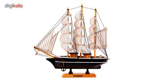 کشتی تزئینی چوبی شیک و تک سری 8-117