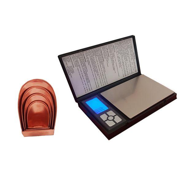 ترازو دیجیتال مدل NOTEBOOK به همراه ست 4 عددی پیمانه