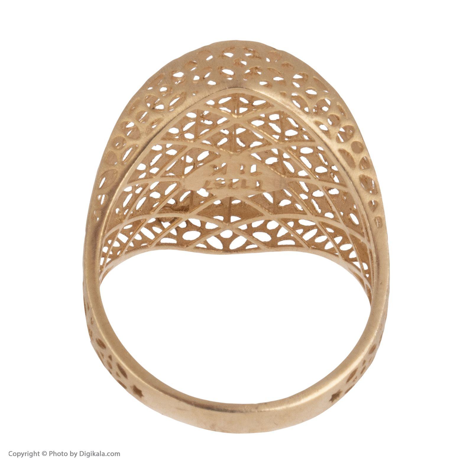 انگشتر طلا 18 عیار زنانه مایا ماهک مدل MR0378 -  - 5