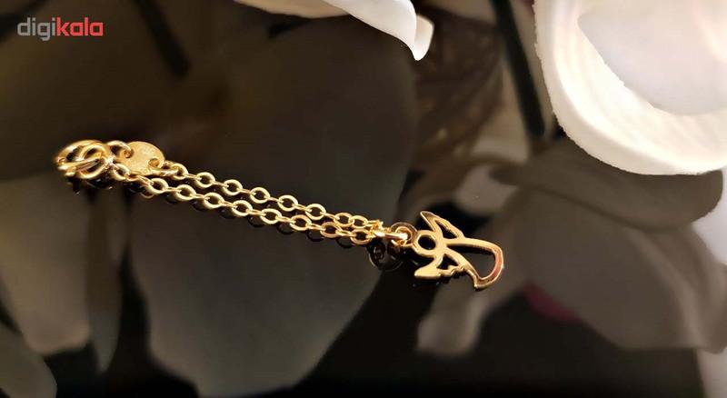 آویز ساعت طلا 18 عیار طرح فرشته گالری آمانژ مدل D112