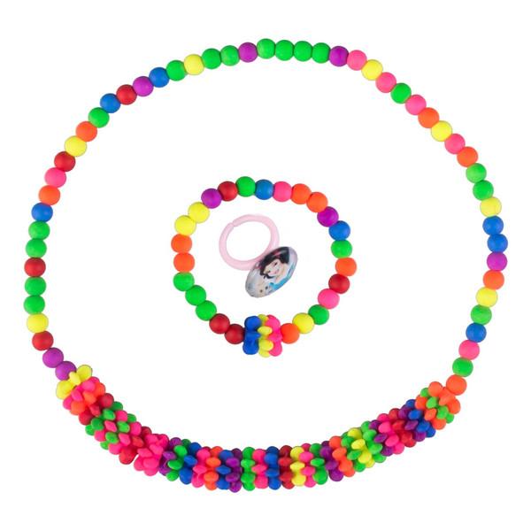 ست گردنبند و دستبند  دخترانه  ویتالی بیوتی مدل رنگین کمان کدA623