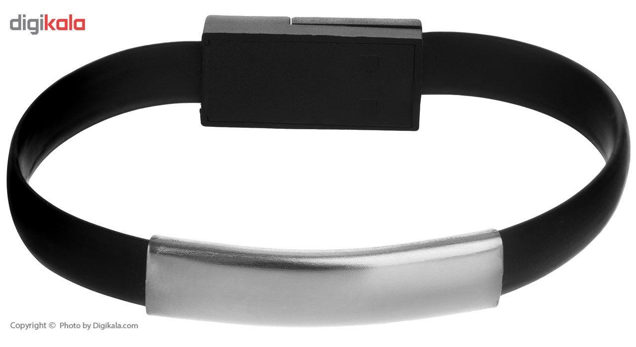 کابل دستبندی تبدیل USB به microUSB  طول 0.22 متر main 1 4