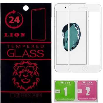 محافظ صفحه نمایش تمام چسب شیشه ای لاین مدل 5D مناسب برای گوشی اپل آیفون 8