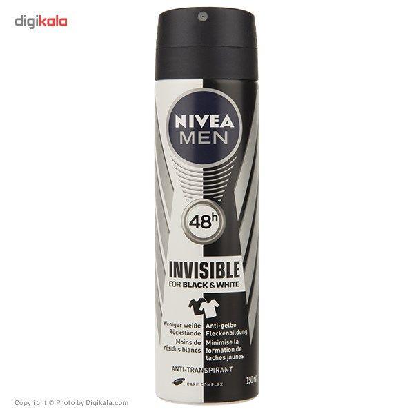 اسپری مردانه نیوآ مدل Invisible حجم 150 میلی لیتر  Nivea Invisible Spray For Men 150ml