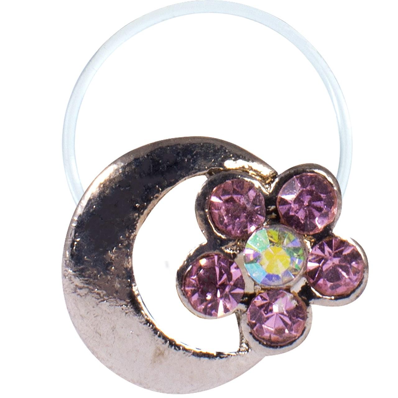 انگشتر پا طرح ماه و گل مدل Toe Ring1