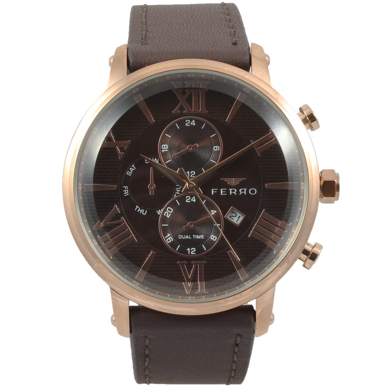 ساعت مچی عقربه ای مردانه فرو مدل F61509-622-C2