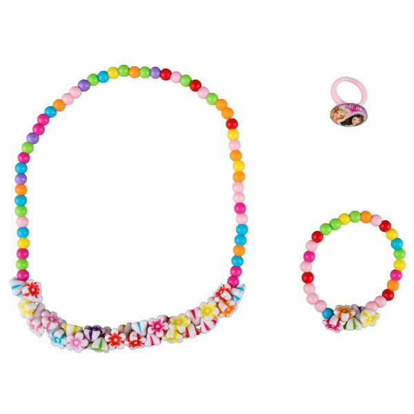 ست گردنبند و دستبند  دخترانه ویتالی بیوتی مدل شکوفه کدA623