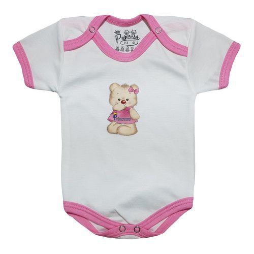 لباس زیر دکمه دار آستین کوتاه نوزادی برند پرنسس مدل PINK-07