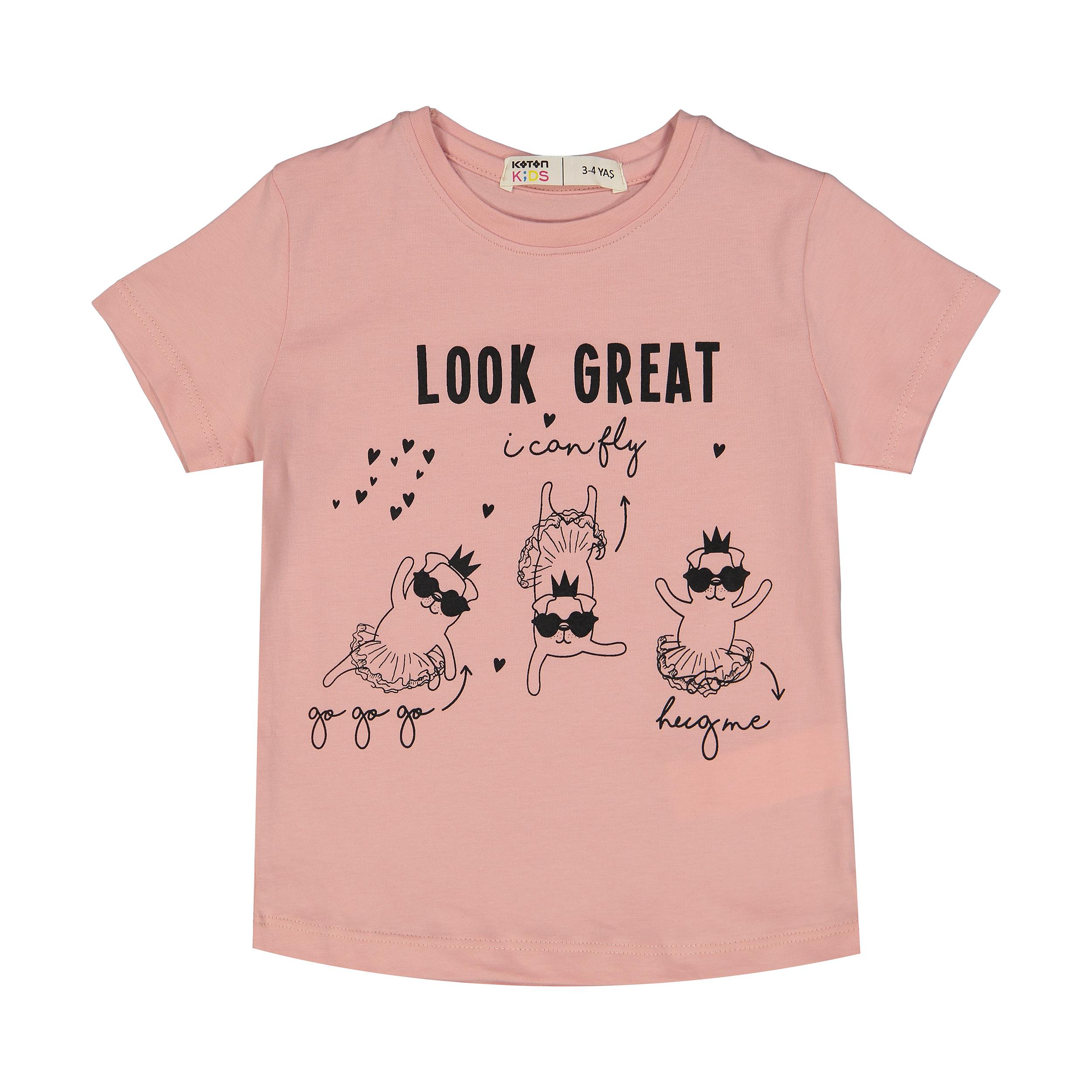 تی شرت دخترانه کوتون مدل 0YKG17232OK