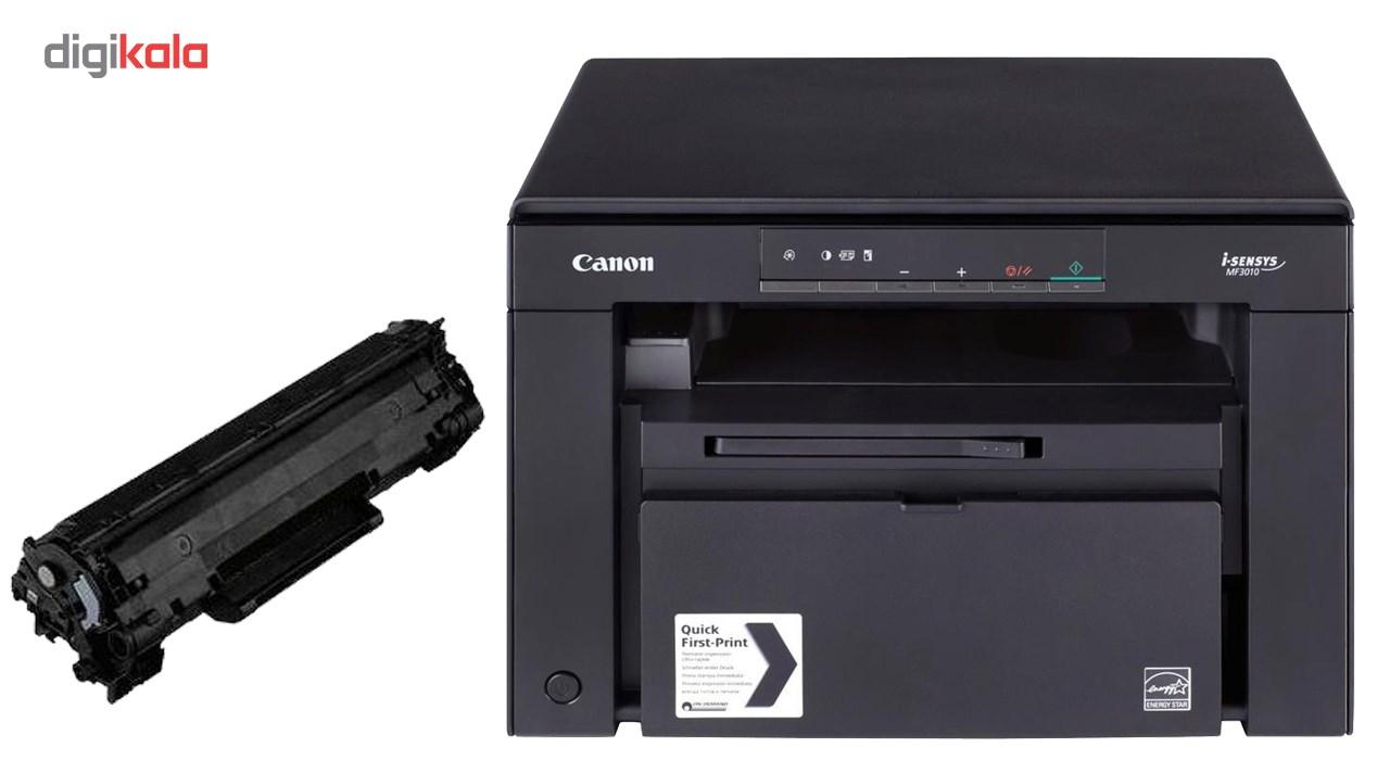 پرینتر لیزری کانن مدل i-Sensys MF3010 به همراه یک تونر اضافه
