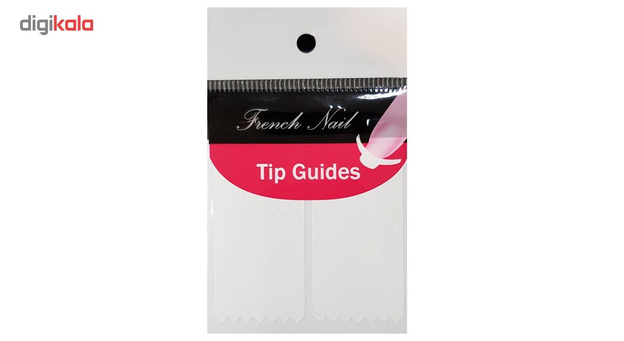 برچسپ فرنچ ناخن Tip Guide مدل زیک زاک main 1 1