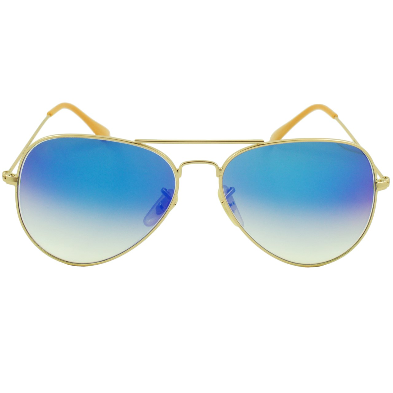 قیمت عینک آفتابی مدل Aviator Large Metal Light Blue Matte