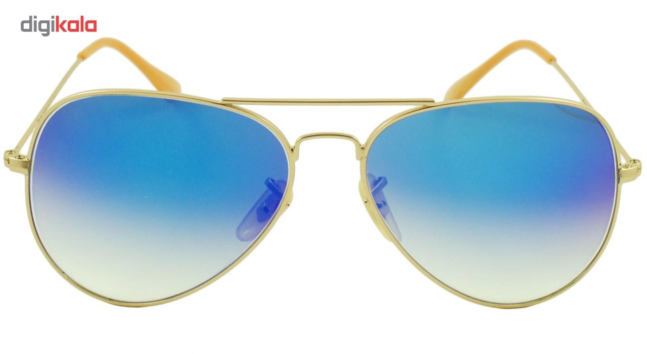 عینک آفتابی مدل Aviator Large Metal Light Blue Matte