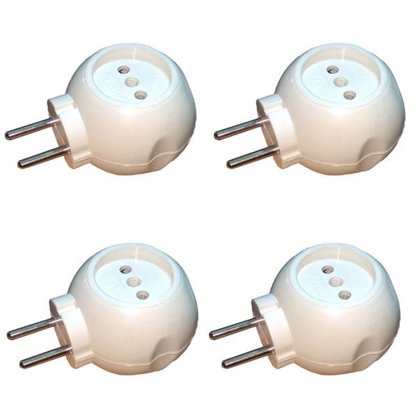 سه راهی برق بست مدل تپل 04 بسته 4 عددی