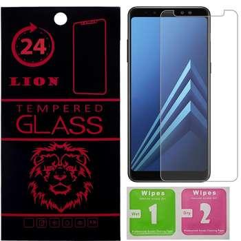 محافظ صفحه نمایش شیشه ای لاین مدل 2.5D مناسب برای گوشی سامسونگ A8 2018