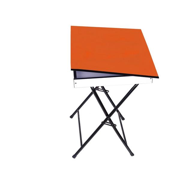 میز تحریر تاشو  تنظیم شو  یاس باکس دار نارنجی