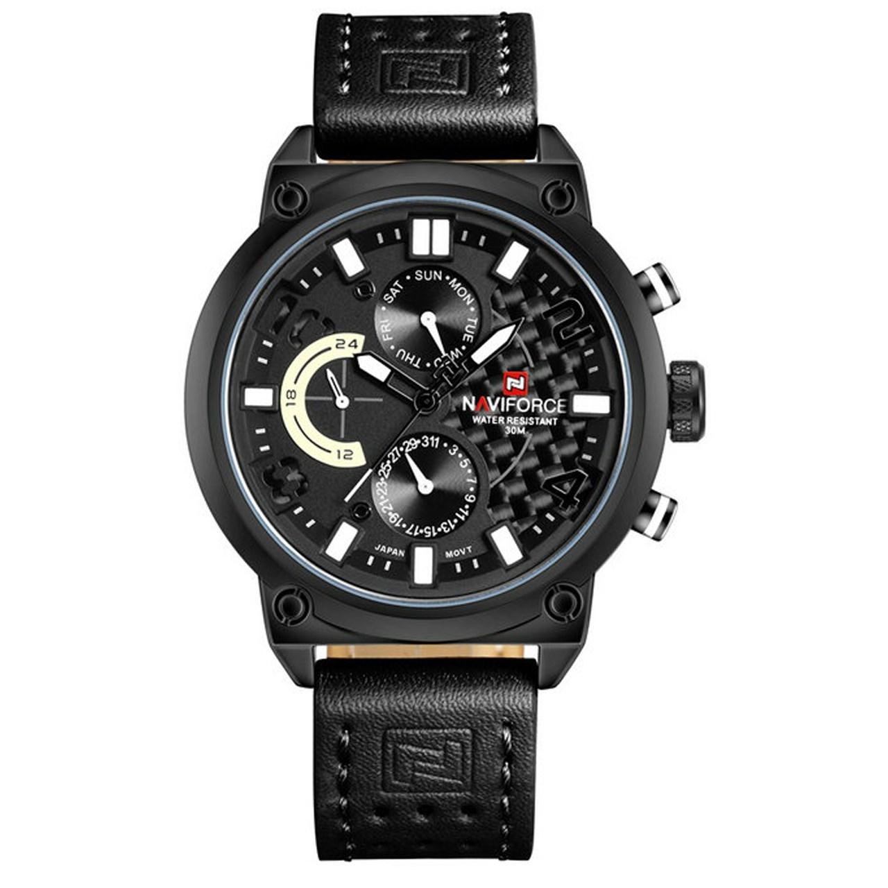 ساعت مچی عقربه ای مردانه نیوی فورس مدل NF9068M/BBW