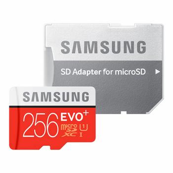 کارت حافظه microSDXC سامسونگ مدل Evo Plus کلاس 10 استاندارد UHS-I U1 سرعت 80MBps همراه با آداپتور SD ظرفیت 256 گیگابایت