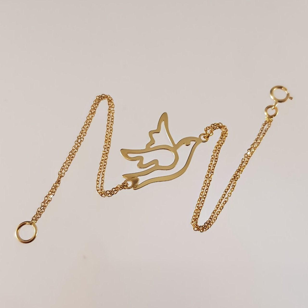 قیمت دستبند طلا 18 عیار گالری آمانژ مدل D164