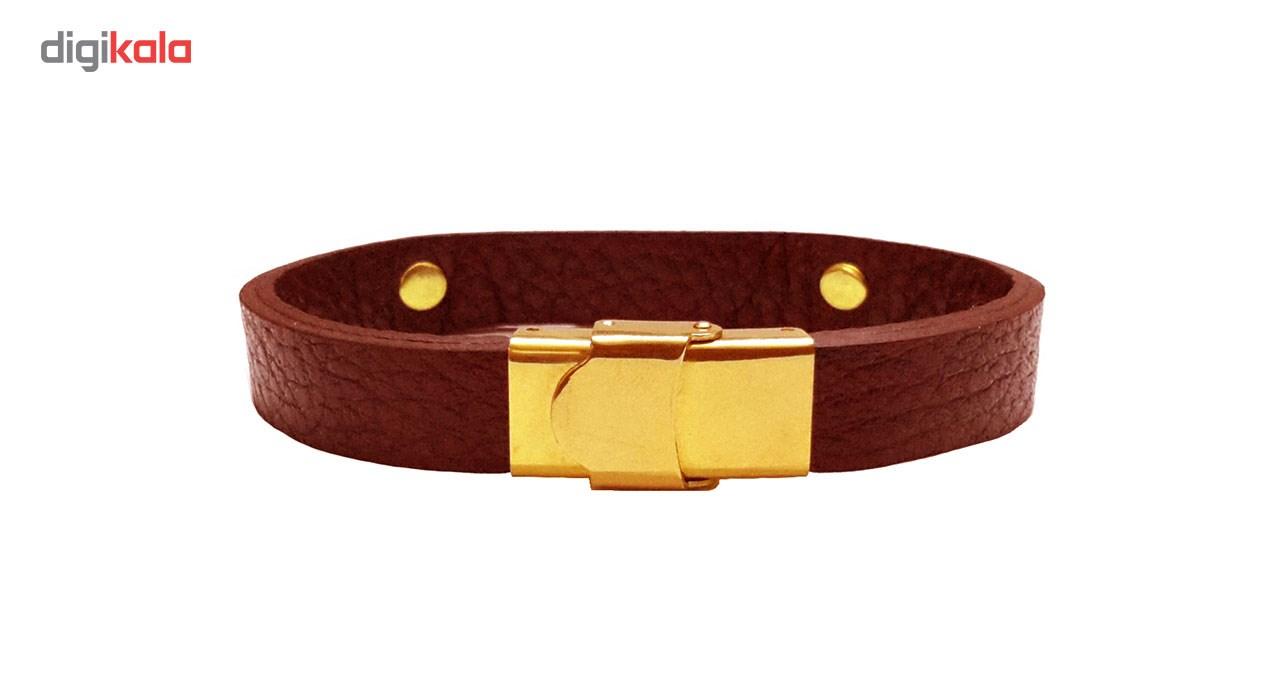 دستبند چرمی مانی چرم کد BL-173
