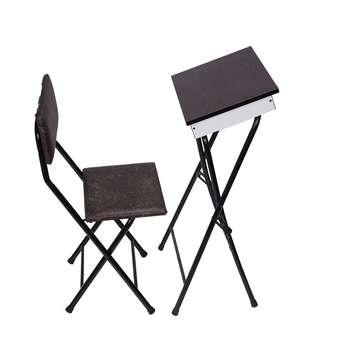 میز و صندلی تاشو نماز یاس مدل باکس دار قهوه ای