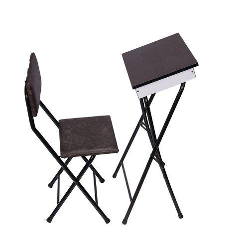 میز و صندلی تاشو نماز سپهر یاس مدل باکس دار قهوه ای