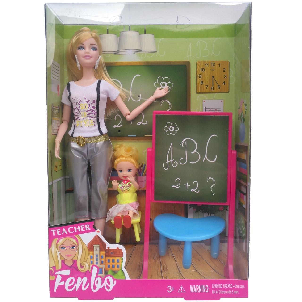 عروسک باربی معلم مدل Ak056